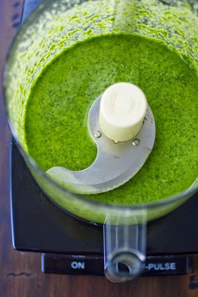 pesto in blender