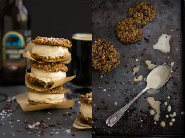 montage of ice cream sandwiches and oatmeal cookies