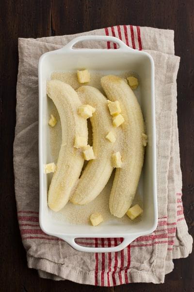 bananas in dish