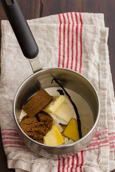 butter and sugar in a pot