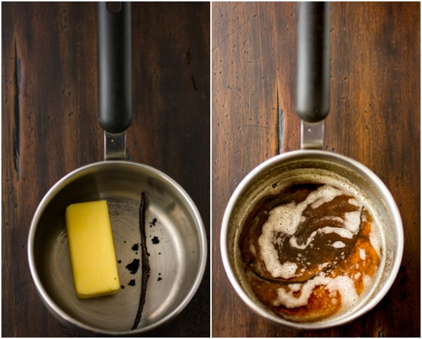 butter melting in a pot