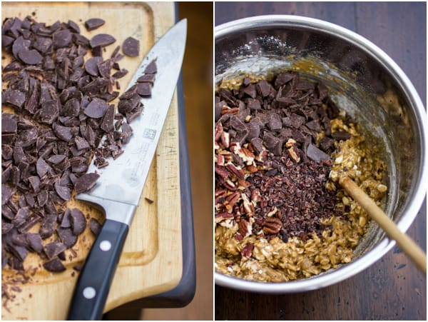 chocolate mixed in bowl