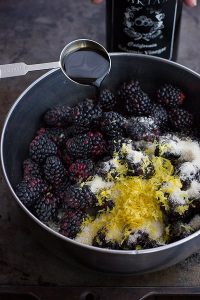 zest and berries in bowl