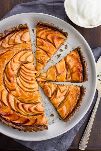 top down shot of pie with gluten free pie dough