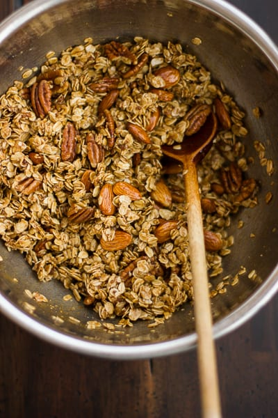 bowl of Gingersnap Granola