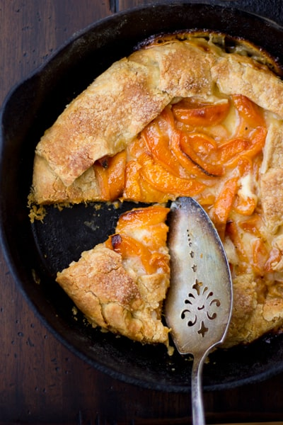 overhead shot of (Gluten-Free!) Late-Season Apricot and Mascarpone Galette