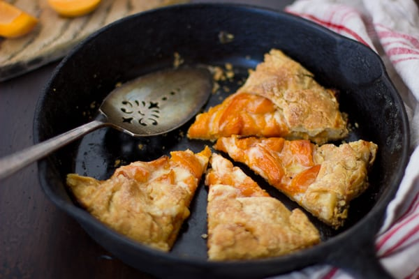 skillet of (Gluten-Free!) Late-Season Apricot and Mascarpone Galette