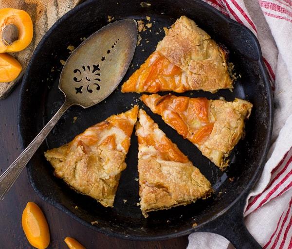 overhead shot (Gluten-Free!) Late-Season Apricot and Mascarpone Galette