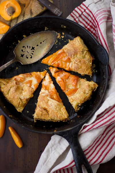 (Gluten-Free!) Late-Season Apricot and Mascarpone Galette slices