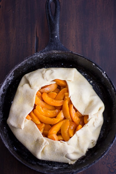 fruit in skillet