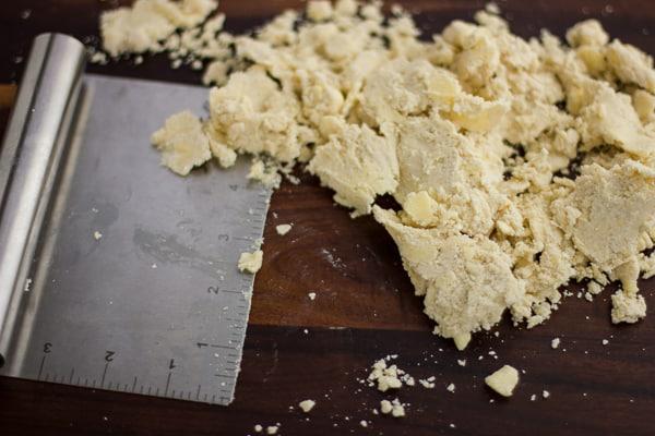 dough chopped