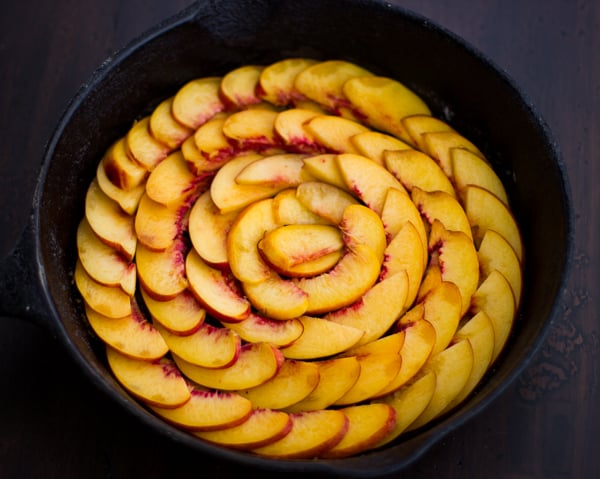 fruit in skillet
