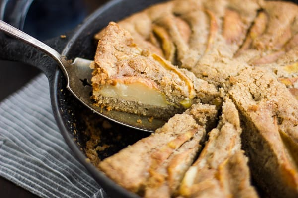 (Gluten-Free) Chai-Spiced Pear Skillet Cake slice