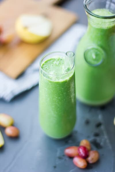 Fall Greens Smoothie  in a glass