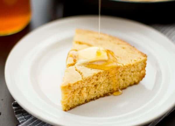slice of gluten free cornbread