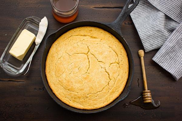 Gluten-Free Cornbread in skillet