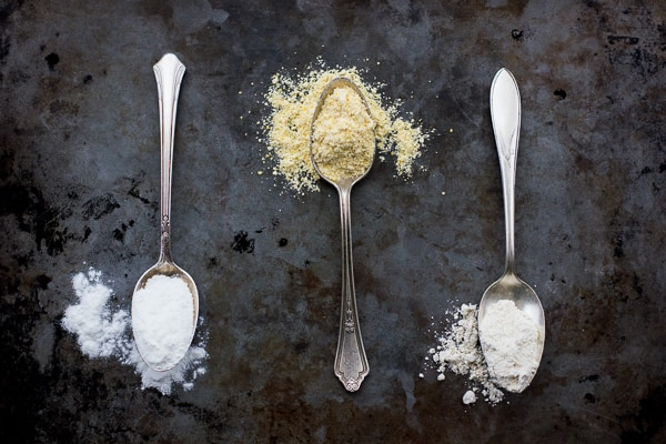 spoonfuls of dry ingredients
