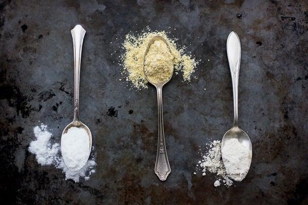 spoonfuls of dry ingredients