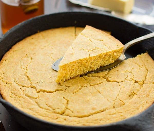 Gluten-Free Cornbread in a skillet