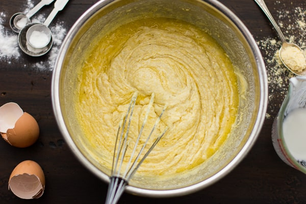 Gluten-Free Cornbread mix being whisked