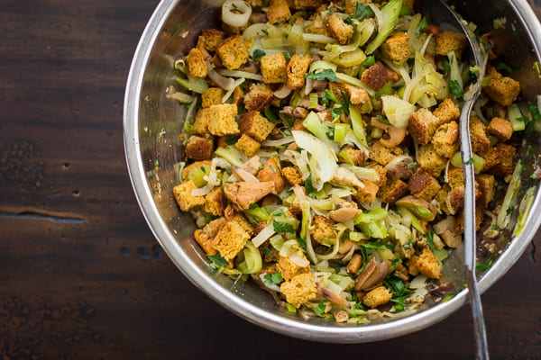 stuffing mix in bowl