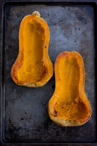 hollowed out squash