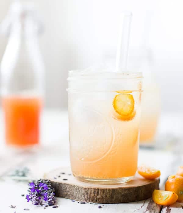 Lavender Kumquat Shrub in a jar