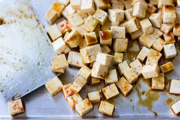 tray of tofu