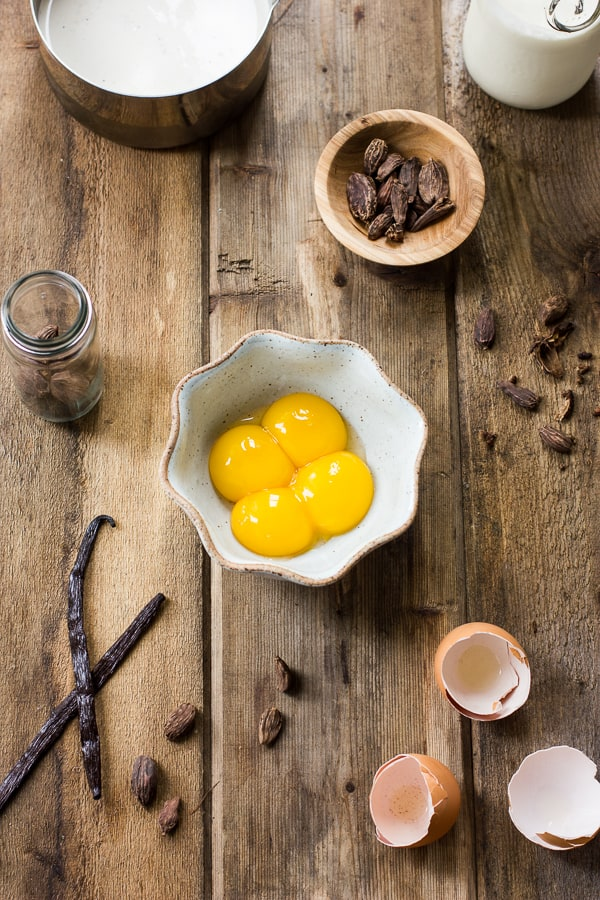egg yolks in a bowl
