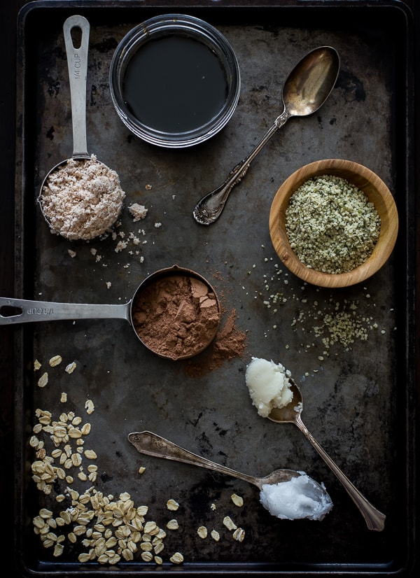 ingredients on baking tray
