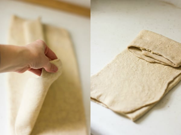 pastry being folded
