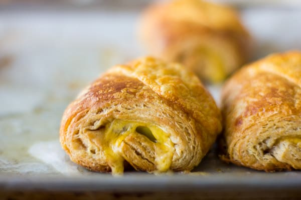 cheese in croissants