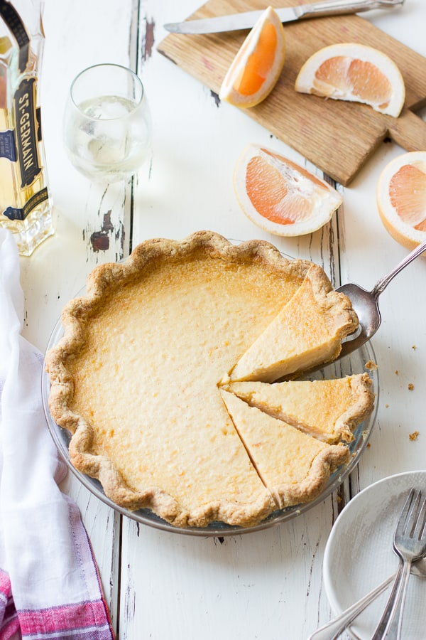 sliced Grapefruit Custard Pie {Gluten-Free}
