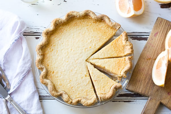Flaky Gluten-Free Pie Crust (Whole-Grain + Gum-Free) and grapefruit filling