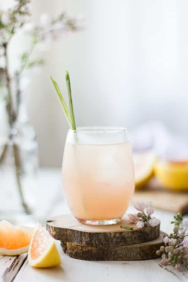 Grapefruit, Ginger, and Lemongrass Sake Cocktail
