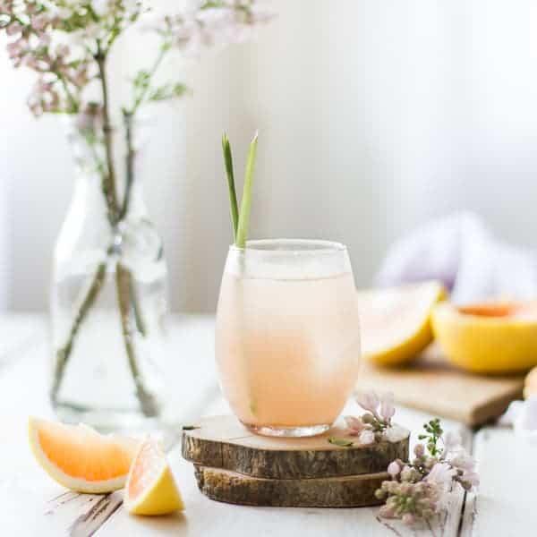 refreshing Grapefruit, Ginger, and Lemongrass Sake Cocktails