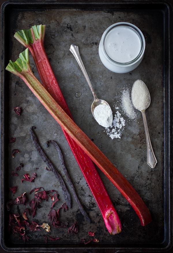 rhubarb on tray