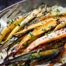 Cumin and Honey Roasted Carrots, Ricotta, and Gremolata