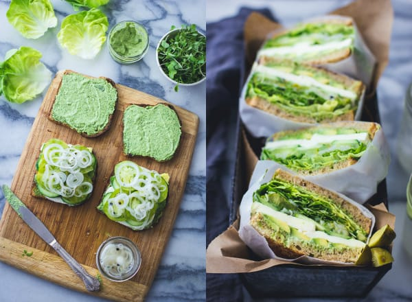Green Goddess Sandwiches and filling