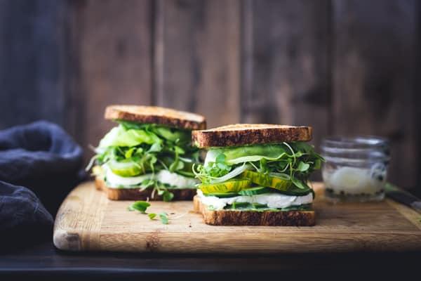 two Green Goddess Sandwiches