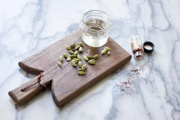 cardamom on a board