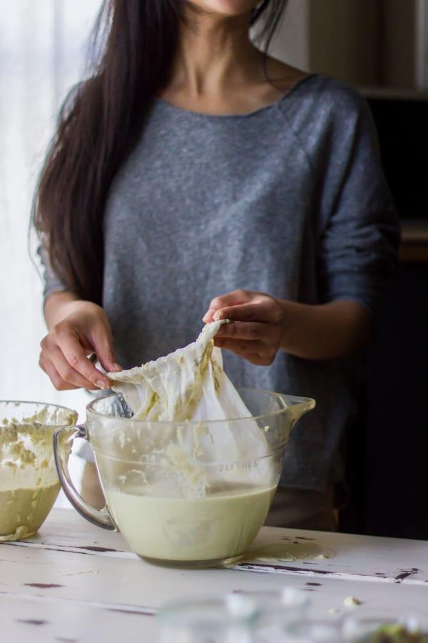 muslin cloth in bowl