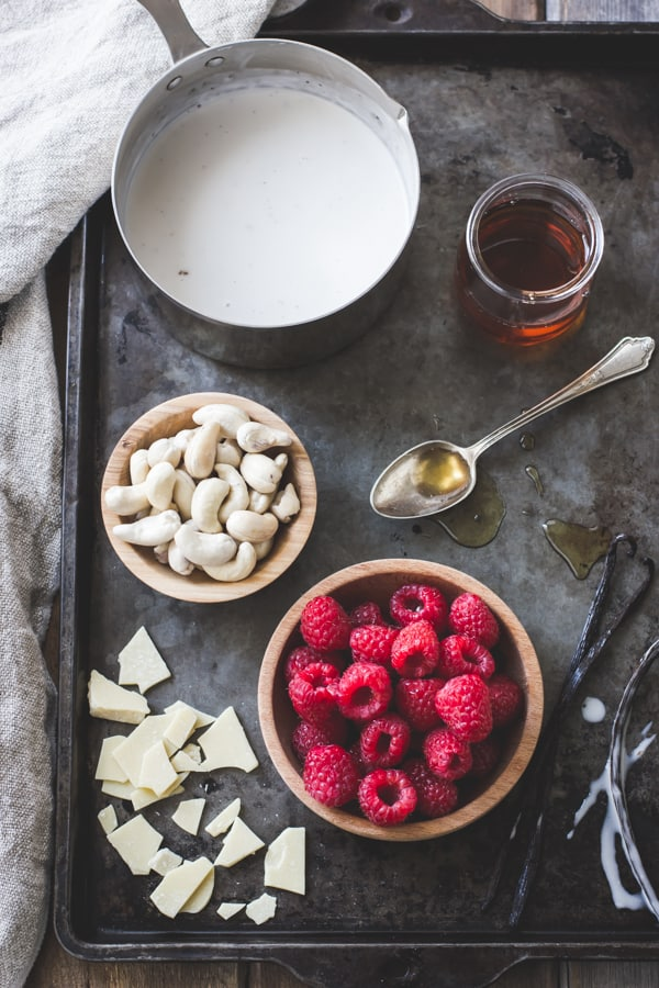 nuts and raspberries