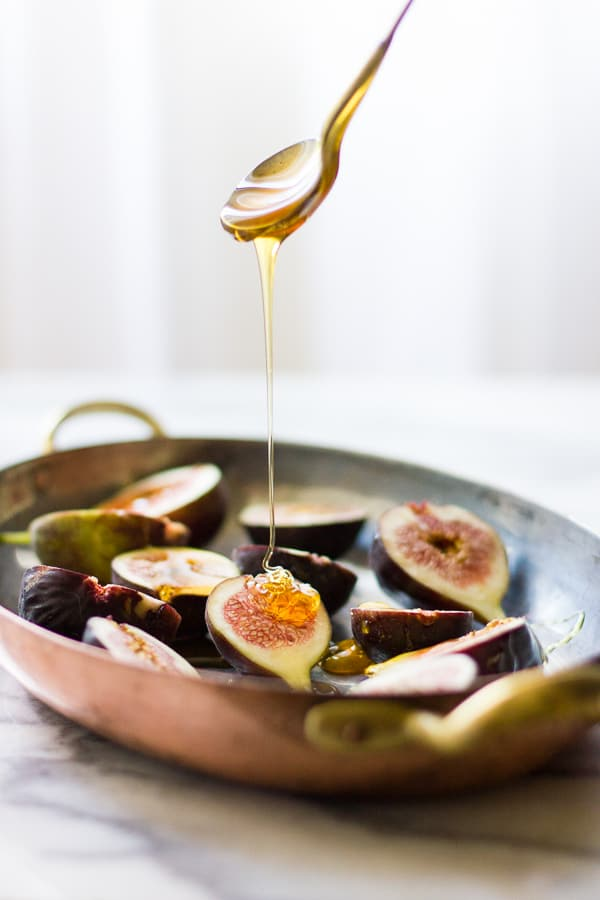 honey on figs