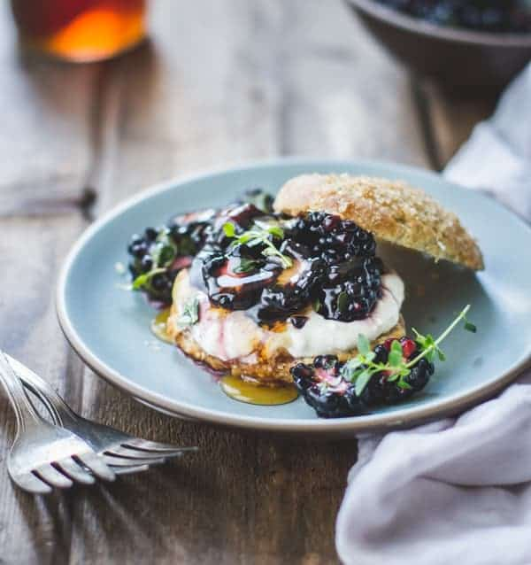 delicious Ricotta Blackberry Shortcakes with Honey and Thyme {Gluten-Free}