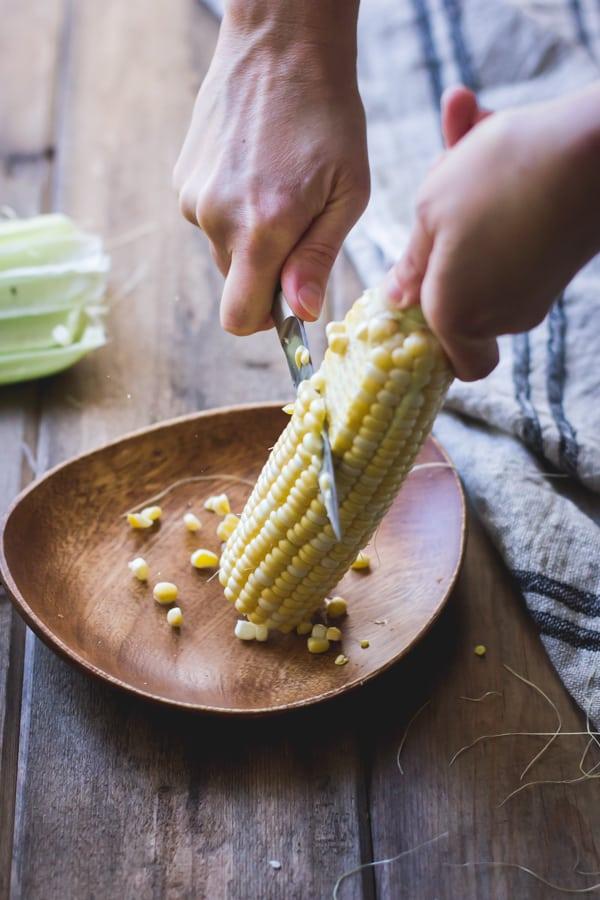 corn cut from cob