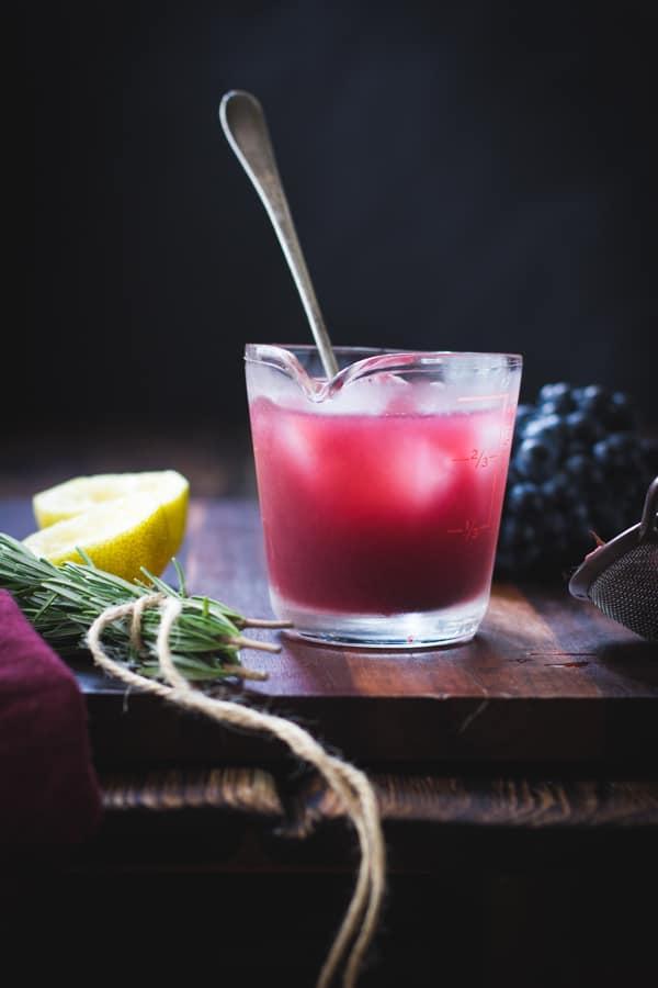 cocktail in jug