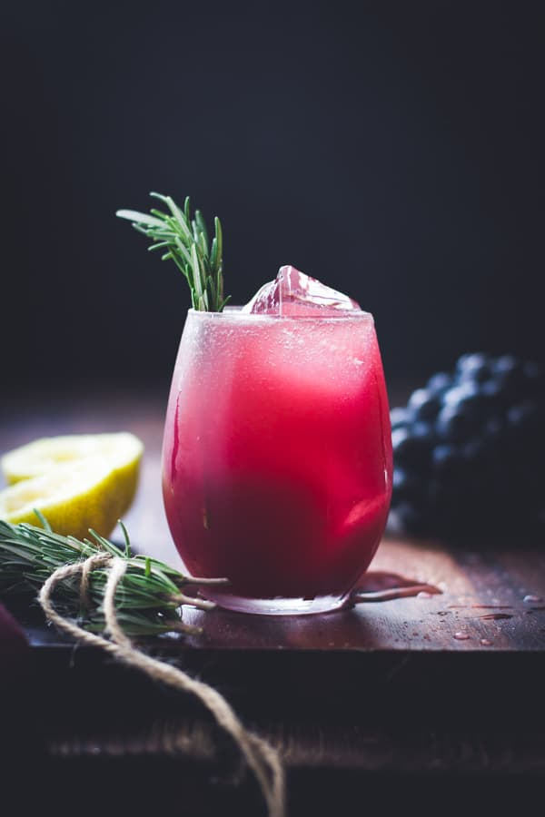 refreshing Zinfandel Grape, Rosemary + Gin Crush