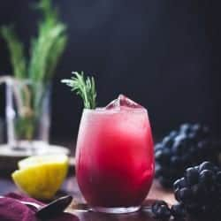 Zinfandel Grape, Rosemary + Gin Crush