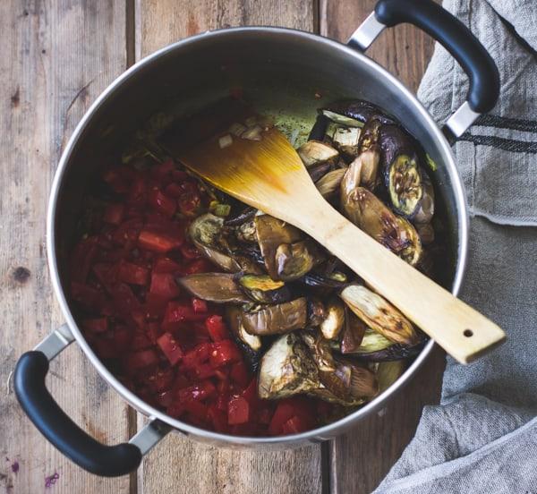 eggplant in pot